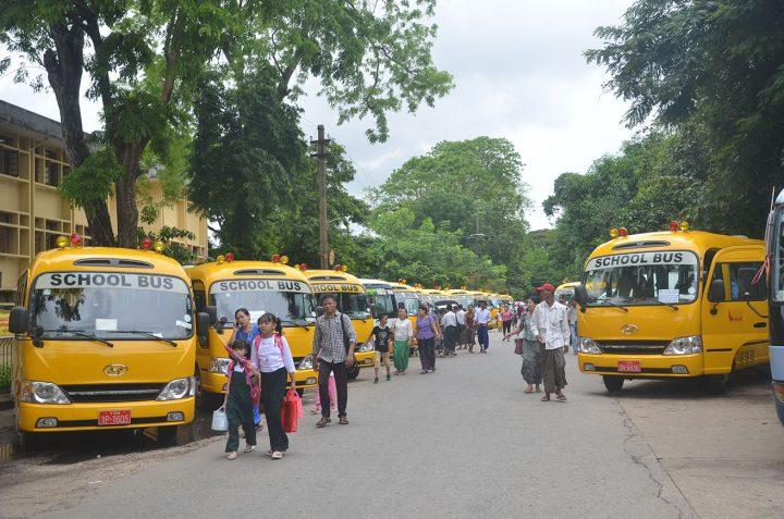 School bus fares ranged between K20,000 and K50,000 per student last year. PHOTO: Phoe Khwar