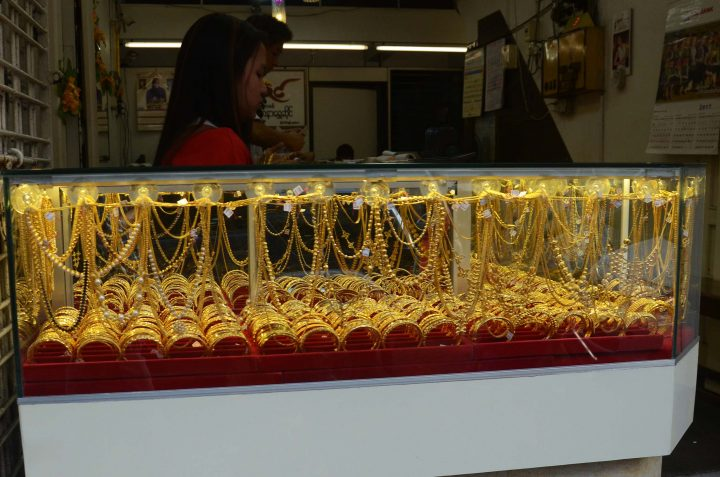 Myanmar gold price increases , tracking the global market. Photo: Phoe Khwar