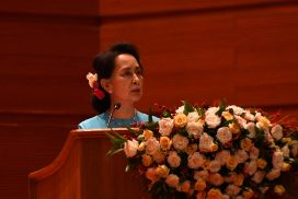 State Counsellor and Chairperson of National Reconciliation and Peace Centre makes speech at Union Peace Conference—21st Century Panglong