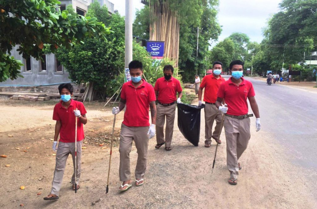 Bagan Plastic Campaign leads trash collecting in ancient cultural zone