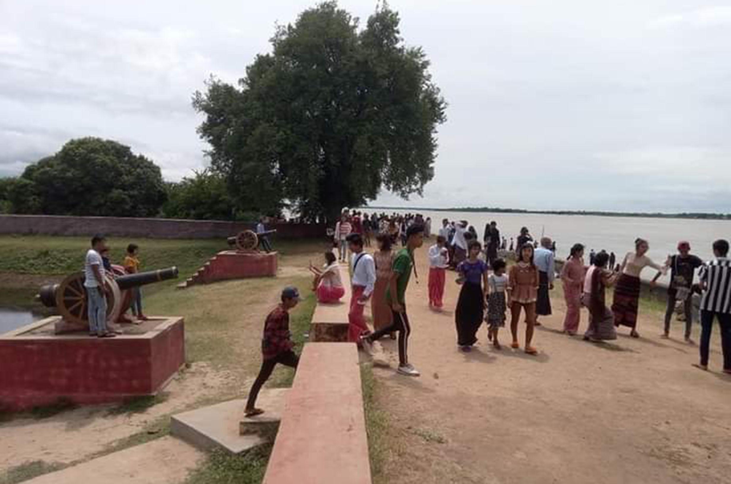 Hsin Kyone Fort at ancient city of Innwa is a viewpoint for natural beauty of Ayeyawady River. File Photo