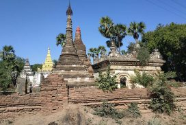 Ancient stupas and temples in old Ahmyint city