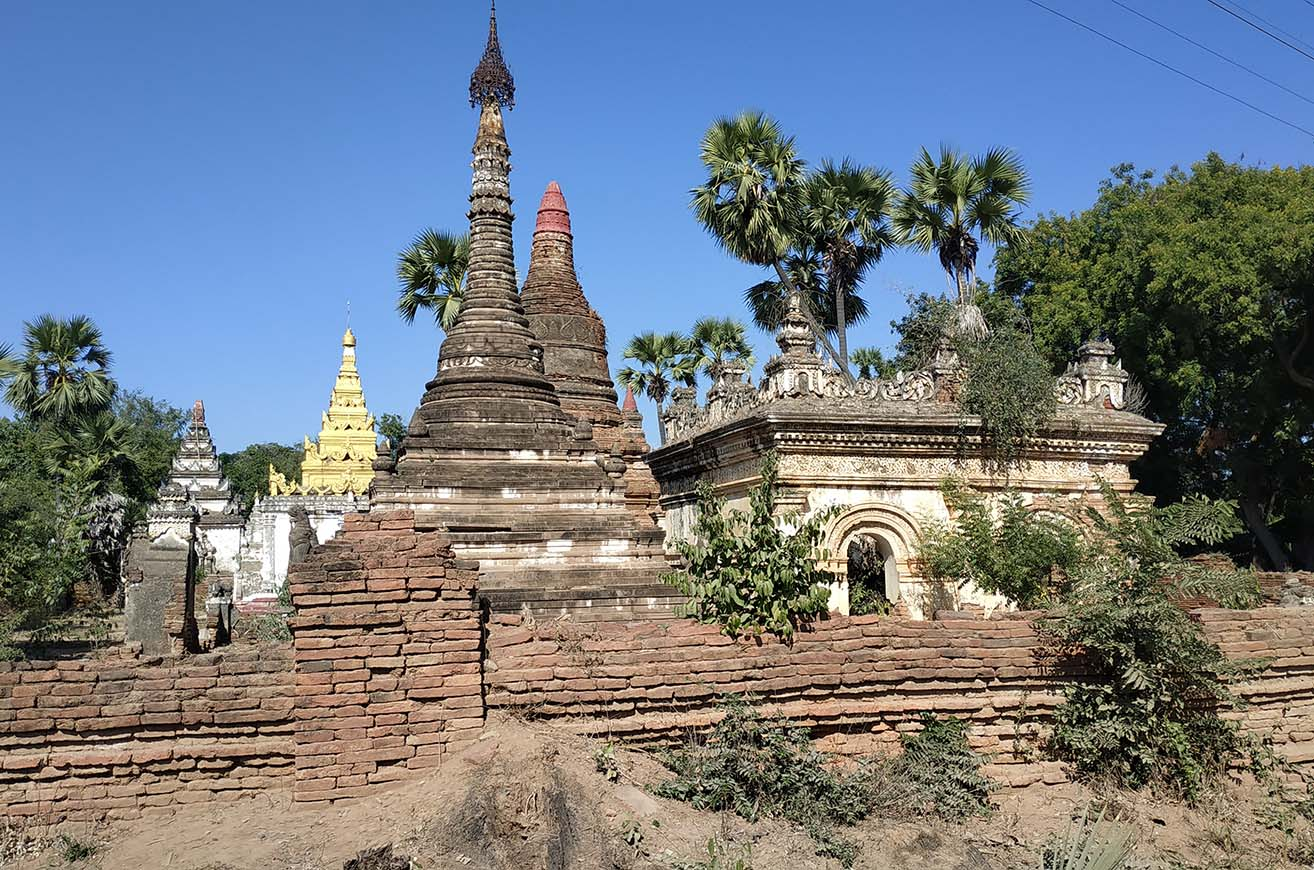Ancient stupas in Ahmyint village.