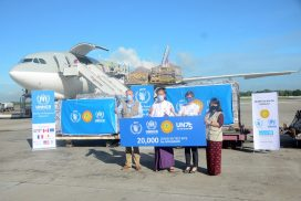 UNHCR, WFP provide COVID-19 test kits to Myanmar