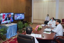 Permanent Secretary U Soe Han co-chairs 17th ASEAN-Canada Dialogue held via video conference
