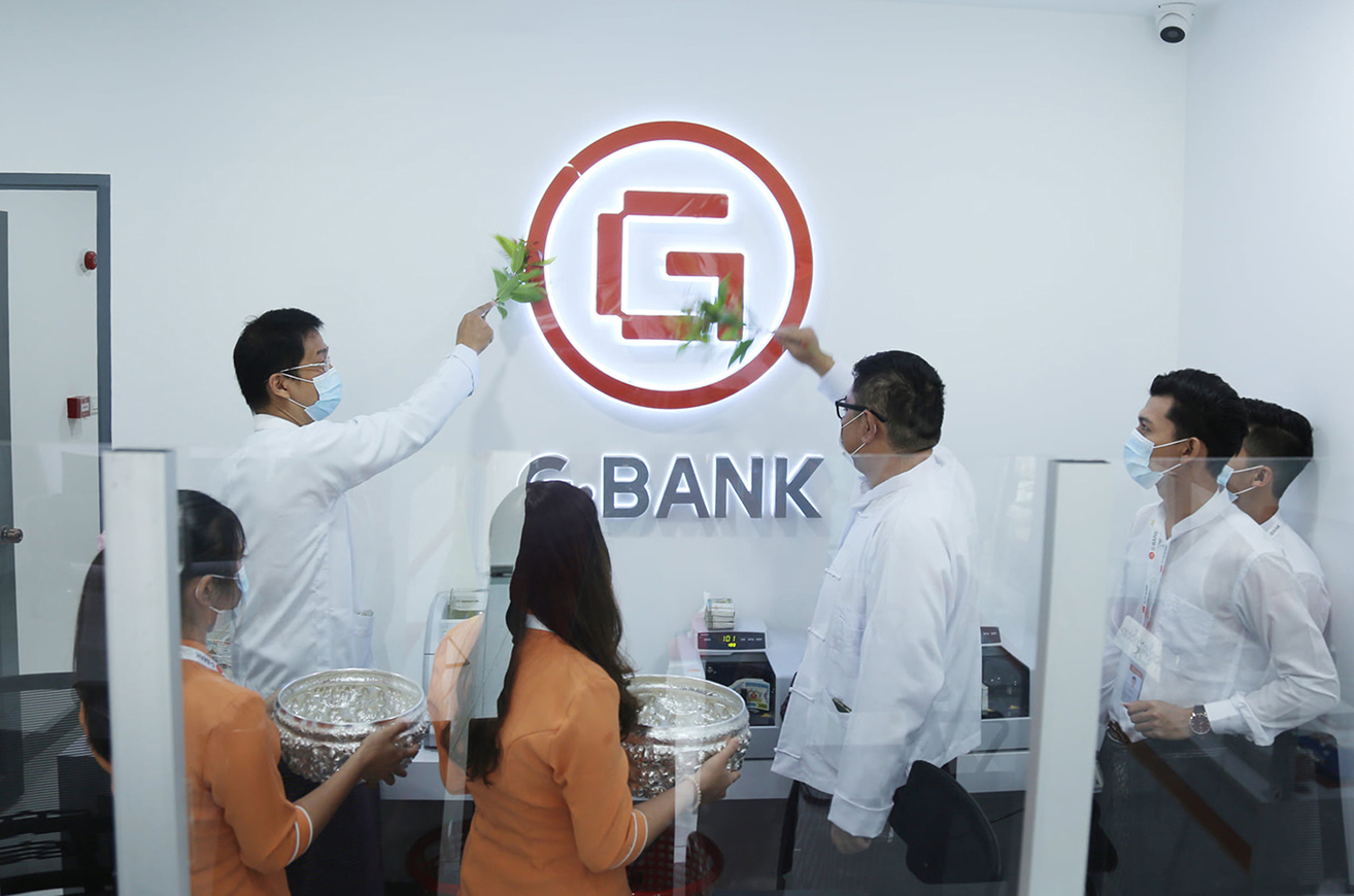 A new branch of G Bank is inaugurated in Myawady Township, Kayin Stat,  early this month.  PHOTO: Supplied