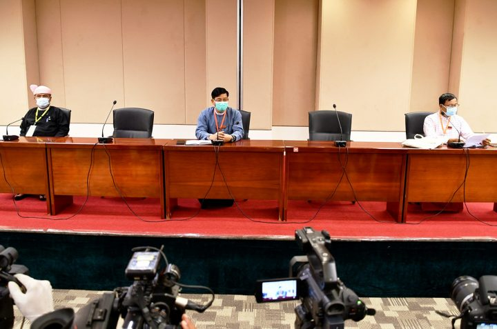 Press briefing is held after the 20th meeting of UPDJC on 20 August.PHOTO: MNA