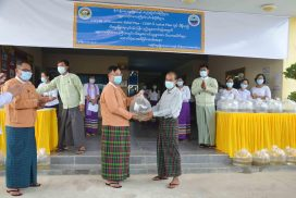 Fingerlings provided to fish breeders in Mandalay Region