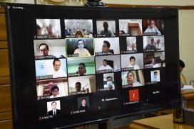 MoC organizes virtual meeting on free food ration distribution in Yangon