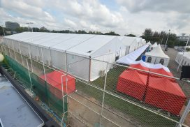 400-bed tent hospital in Yangon opens to treat COVID-19 patients