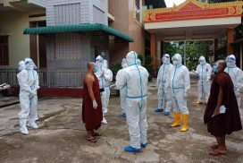 Officials collaborate on containment of COVID-19 in Ywar Ma Parirati Monastery
