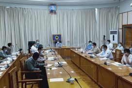 Union Minister U Han Zaw organizes virtual meeting with directors of Road Departments