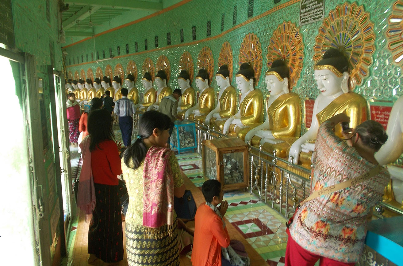 Interior of U Min Thonze Cave Temple. 0