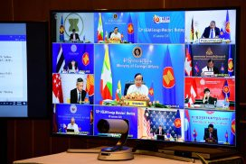 Union Minister U Kyaw Tin participates in 53rd ASEAN Foreign Ministers' Meeting and related Meetings held via videoconference