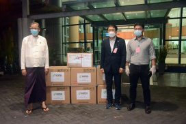 ROK govt, people donate COVID-19 detection kits to Myanmar