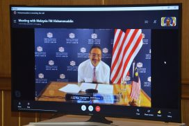 Union Minister for International Cooperation holds discussions with Malaysian Foreign Minister via videoconference