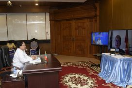 Union Minister U Kyaw Tin holds discussions with Australian foreign & women minister via videoconference