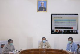 Union Minister U Soe Win holds virtual meeting on foreign assistance