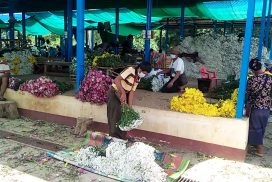 Flower prices in Mandalay market drop by half in pandemic period