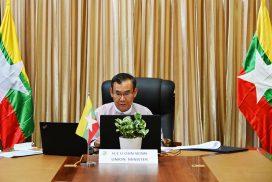Union Minister U Ohn Winn attends Hindu Kush Himalaya Ministerial Mountain Summit 2020 online