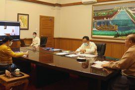 Myanmar-Singapore Economic Ministers discuss economic matters via videoconference