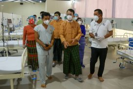 Ayeyarwady Bank, Max Myanmar Group contribute K1.5 bln to Ayeyarwady Centre for COVID-19 patients