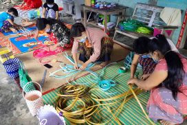 Domestic handicraft businesses earn extra income in Pwintbyu Township
