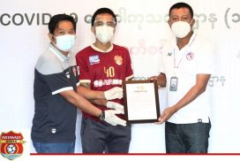 Ayeyawady United donates K10 million to Ayeyawady Centre