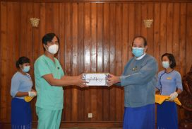 Civil Service Institute donates K5 mln to COVID-19 medical centre in Phaunggyi