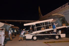 COVID-19 medical supplies imported from China arrive in Yangon, Mandalay