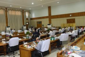 Vice President U Myint Swe attends climate change meeting online