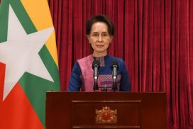 State Counsellor Daw Aung San Suu Kyi reports to people regarding COVID-19 situation