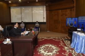 Union Minister U Kyaw Tin participates  in ASEAN-United Nations  Ministerial Meeting (AUMM) held via videoconference