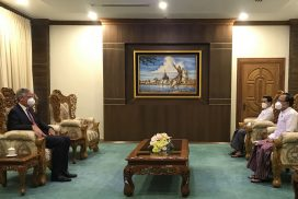 Union Minister U Kyaw Tin receives Ambassador of European Union to Myanmar