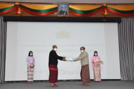 Amyotha Hluttaw speaker, govt officials donate cash to national COVID-19 committee