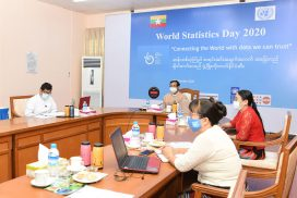 Vice President U Henry Van Thio delivers speech at virtual event marking World Statistics Day