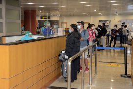 257 Myanmar nationals abroad fly back home on 25 Oct