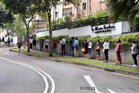 Myanmar citizens in Singapore, ROK cast advance votes