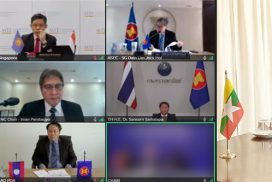 Union Minister U Thaung Tun participates in Virtual 11th Intersessional Regional Comprehensive Economic Partnership (RCEP) Ministerial Meeting