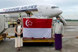 Singapore donates COVID-19 medical supplies to Myanmar