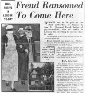 Freud Arrival in London 0