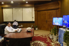 Union Minister U Kyaw Tin participates in 2nd Mekong-ROK Summit and 12th Mekong-Japan Summit via Videoconference
