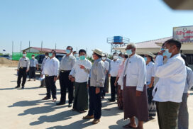 Union Minister U Han Zaw inspects construction projects in Nay Pyi Taw Council Area
