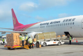 COVID protective gears from China arrive in Yangon, Mandalay
