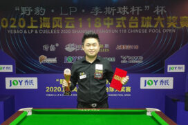 Phone Myint Kyaw wins third place in Shanghai 8 Ball tourney