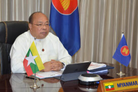 Union Minister U Thaung Tun participates in the Virtual Preparatory Regional Comprehensive Economic Partnership Ministerial Meeting (Prep-RCEP MM)
