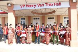 VP U Henry Van Thio opens new church hall in Haka