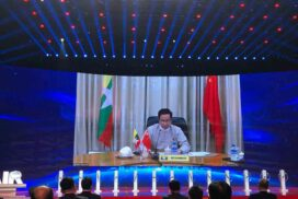 Deputy Minister U Aung Htoo joins China-South Asia expo online