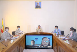 Union Minister U Soe Win holds virtual meeting with ADB officials