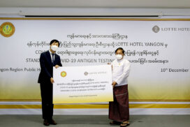 LOTTE Hotel Yangon donates fund to Yangon Region Public Health Department
